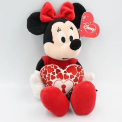 Peluche Minnie rouge avec coeur serrure DISNEY NICOTOY