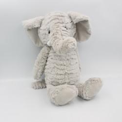 Doudou peluche éléphant gris