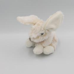 Doudou lapin beige blanc tout doux HISTOIRE D'OURS