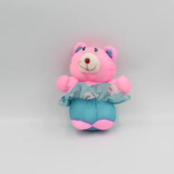 Petite Peluche Puffalump ours rose bleu
