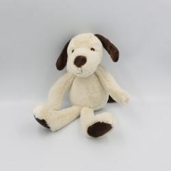 Doudou peluche chien beige marron MARQUE VERTE