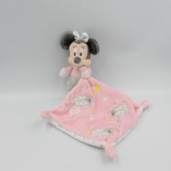 Doudou Minnie rose avec mouchoir moutons DISNEY BABY