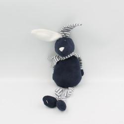 Doudou lapin bleu marine rayé BOUT'CHOU BOUTCHOU