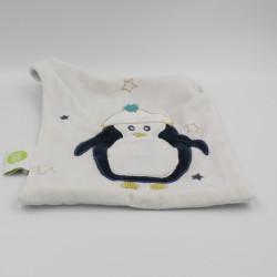 Doudou plat pingouin BABY CALIN