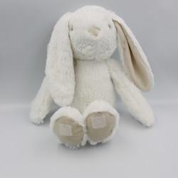 Doudou lapin blanc beige tout doux ATMOSPHERA