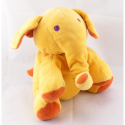 Doudou Eléphant Orange marron MARESE