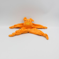 Doudou plat chien orange...