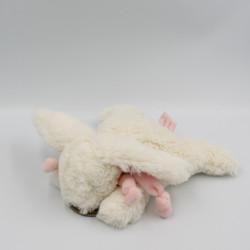 Doudou lapin blanc rose...