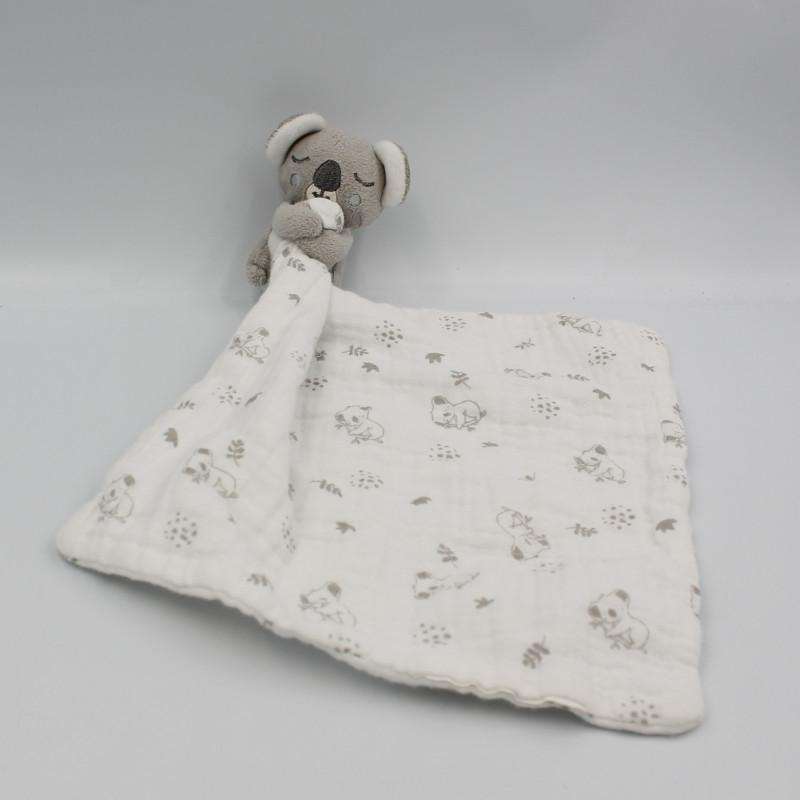 Doudou koala gris blanc mouchoir MAISONS DU MONDE