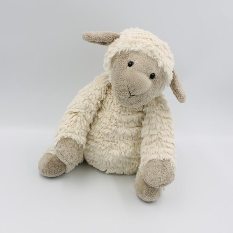 Doudou peluche mouton beige blanc JELLYCAT