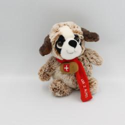 Doudou peluche chien Saint Bernard LES 2 ALPES