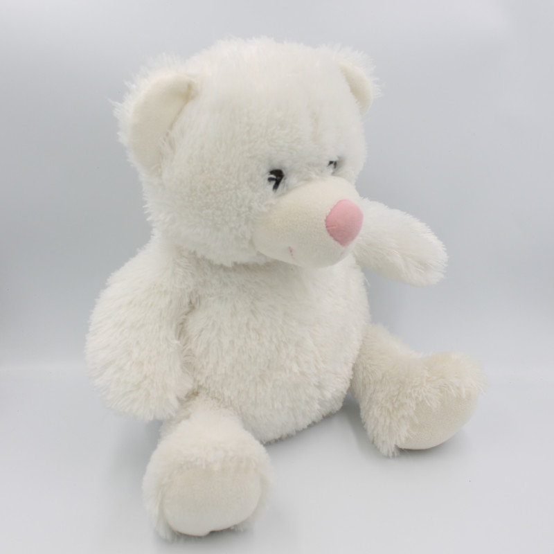 Peluche ours blanc lumineux LULLABRITES