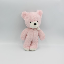Ancienne peluche ours rose blanc