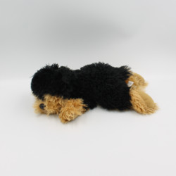 Doudou peluche chien noir marron GIPSY
