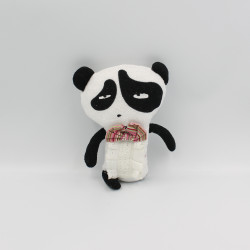 Doudou panda blanc noir éponge
