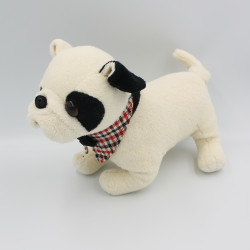 Peluche chien blanc noir Bouledogue BUKOWSKI