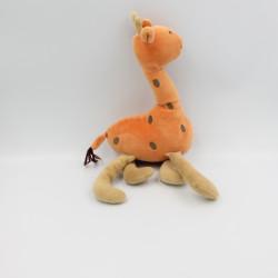 Doudou girafe orange beige...