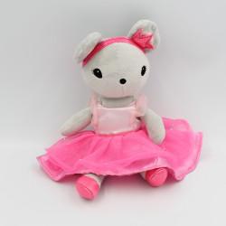 Doudou souris grise rose tutu rose H&M
