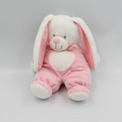 Doudou lapin rose blanc pois TEX BABY