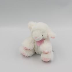Doudou et compagnie mouton blanc rose