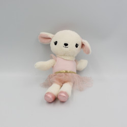 Doudou mouton blanc rose tutu H&M