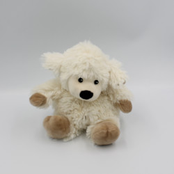 Doudou peluche micro ondable mouton blanc beige WARMIES