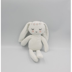Doudou lapin blanc diadème couronne fleurs SIMBA TOYS KIABI