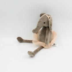 Peluche éléphant marron tutu rose JELLYCAT