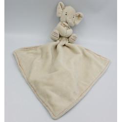 Doudou éléphant beige écru mouchoir JELLYCAT
