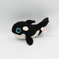Doudou baleine gros yeux brillant Shamu TY