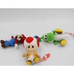 Porte clefs peluche Yoshi Mario Bros Toad NINTENDO