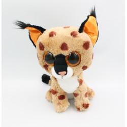 Doudou peluche léopard gros yeux brillant Buckwheat TY
