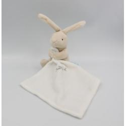 Doudou Lapin beige avec mouchoir Naturel Baby nat