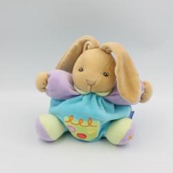 Doudou lapin patapouf bleu mauve anniversaire confettis Kaloo