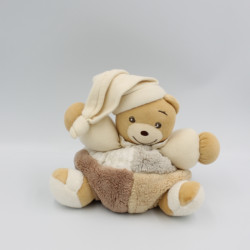 Doudou ours patchwork blanc...