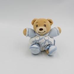 Mini Doudou ours blanc bleu blue enfant KALOO