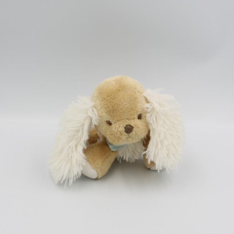 Doudou chien beige blanc foulard bleu Les Amis KALOO