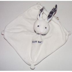 Doudou Plat Lapin blanc Baby Nat