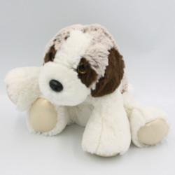 Doudou peluche chien saint Bernard beige marron blanc tout doux DANI