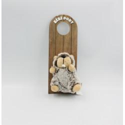 Mini peluche marmotte castor bébé dort CREATION PACO
