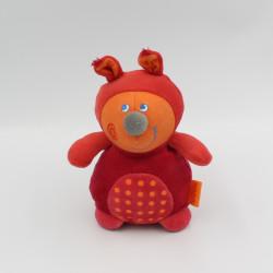 Doudou écureuil rouge orange HABA