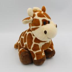 Doudou girafe beige taches marron