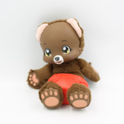 Doudou peluche sonore ours marron couche ZOOPY BAOBAB