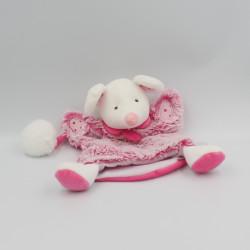 Doudou et compagnie marionnette souris rose blanc LOVELY