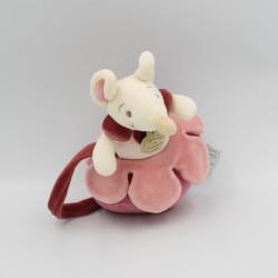 Doudou et compagnie musical souris rose bordeaux Magie des fleurs