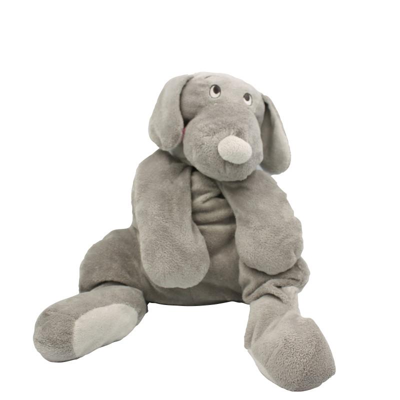 Grand doudou chien gris FIFI DIMPEL