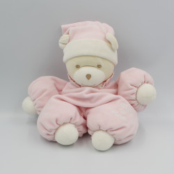Doudou ours rose blanc...
