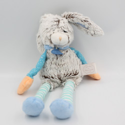 Doudou et compagnie lapin pantin marron bleu orange LES CHOUPIDOUX