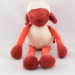 Doudou mouton blanc rouge MARESE