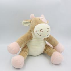 Doudou vache Lola Rosalie beige rose NOUKIE'S 30 cm